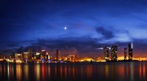 Miami alla notte Fotografia Stock Libera da Diritti