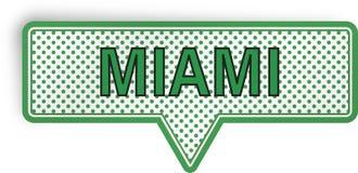 Miami anförandebubbla som isoleras på vit Royaltyfri Foto