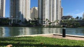 Miami-Ansicht, Schlüsselbereich Brickell stock video footage