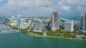 Miami-Antenne stock video footage