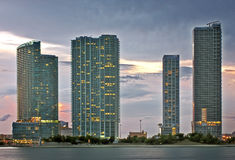 Miami architecture at sunset Stock Photography