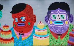 Miami - arte della via a Wynwood Fotografia Stock Libera da Diritti