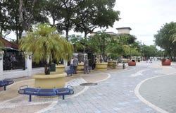 Miami, am 9. August: Kleine Havana Community Plaza von Miami in Florida USA Stockbilder