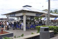 Miami,august 9th:Bayside Bar from Miami in Florida USA Stock Photography