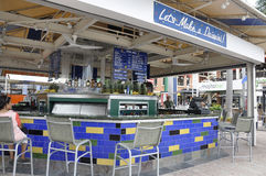 Miami, august 9th: Bayside bar od Miami w Floryda usa fotografia royalty free
