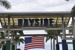Miami,august 9th:Bayside Marketplace from Miami in Florida USA Royalty Free Stock Images