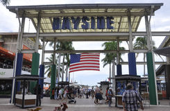 Miami,august 9th:Bayside Marketplace from Miami in Florida USA Royalty Free Stock Photos