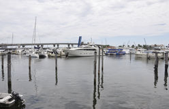 Miami,august 9th:Bayside Port from Miami in Florida USA Stock Photography