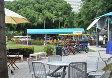 Miami,august 9th:Bayside Terrace from Miami in Florida USA Stock Photography
