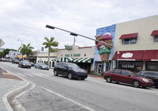 Miami,august 9th: Little Havana community from Miami in Florida USA Royalty Free Stock Photography