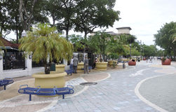 Miami,august 9th: Little Havana Community Plaza from Miami in Florida USA Stock Images