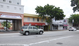 Miami,august 9th: Little Havana Community Street view from Miami in Florida USA Royalty Free Stock Photos