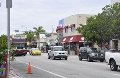 Miami,august 9th: Little Havana Community Street view from Miami in Florida USA Royalty Free Stock Image