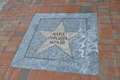 Miami,august 9th: Little Havana Community Walk of Fame from Miami in Florida USA Royalty Free Stock Images