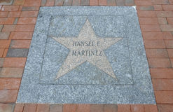 Miami,august 9th: Little Havana Community Walk of Fame from Miami in Florida USA stock photos