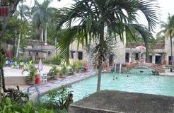 Miami august 9th: Venetian pöl från Coral Gables i Miami från Florida USA Fotografering för Bildbyråer