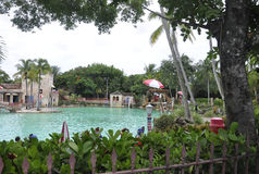 Miami,august 9th:Venetian Pool from Coral Gables in Miami from Florida USA Stock Photography