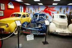 Miami Auto Museum exhibits a collection of vintage and cinema au Stock Photography