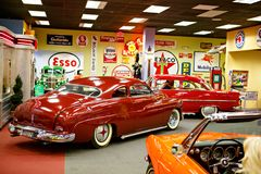 Miami Auto Museum exhibits a collection of vintage and cinema automobiles, bicycles and motorcycles Royalty Free Stock Photography