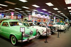 Miami Auto Museum exhibits a collection of vintage and cinema automobiles, bicycles and motorcycles Stock Photo