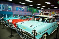 Miami Auto Museum exhibits a collection of vintage and cinema automobiles, bicycles and motorcycles Stock Images