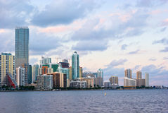Miami Bayfront. Downtown Miami Bayfront, Business District, Condos and Hotels Stock Image