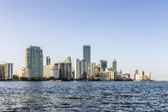 Miami bayfront cityscape skyline Royalty Free Stock Images