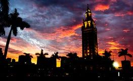 Miami Bayside al tramonto Fotografia Stock Libera da Diritti