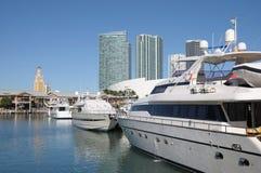 Miami Bayside Marina Stock Images