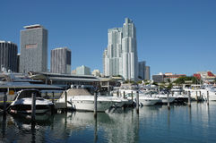 Miami Bayside Marina. Florida USA Royalty Free Stock Photography