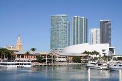 Miami Bayside Marina Stock Image