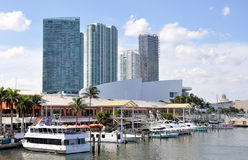 Miami Bayside Marketplace. Image of part of the Miami Bayside Marketplace Royalty Free Stock Photography