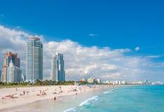 Miami Beach在佛罗里达 免版税库存图片