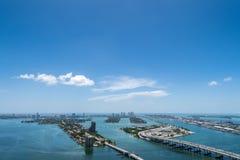 Miami Beach鸟瞰图  免版税库存图片
