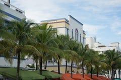 Miami Beach, район стиля Арт Деко, Флорида, США Стоковое фото RF