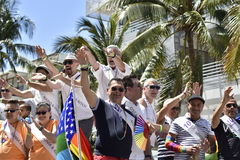 MIAMI BEACH, ФЛОРИДА, 9-ое апреля 2016 - гей-парад Стоковые Фотографии RF
