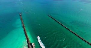Miami Beach, южный пляж Флорида США акции видеоматериалы