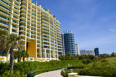 Miami beach. Buildings at Miami beach, florida, on a bright clear day Royalty Free Stock Images