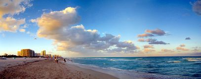 Miami Beach. Panoramic end of day Royalty Free Stock Photo