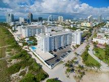 Miami Beach aéreo Imágenes de archivo libres de regalías