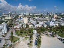 Miami Beach aéreo Florida Imagem de Stock Royalty Free