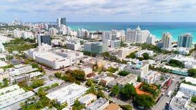 Miami Beach aereo scenico stock footage