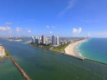 Miami Beach aerial drone photo Stock Images