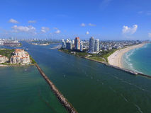 Miami Beach aerial drone photo Stock Photography