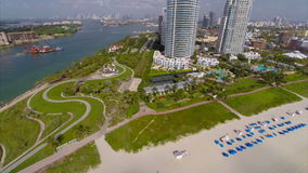 Miami Beach aerial drone video Stock Images