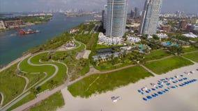 Miami Beach aerial drone video stock footage