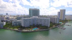Miami Beach aerial tour 4k stock video footage