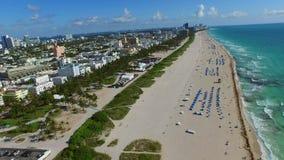 Miami Beach aerial video 4k. Aerial Miami Beach drone video 4k stock footage