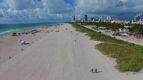 Miami Beach aerial video 4k. Aerial Miami Beach drone video 4k stock video