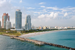 Miami Beach aerial view Royalty Free Stock Images